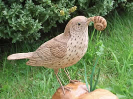 Click to see previous pic of Bird Whittling at Greystoke Cycle Cafe