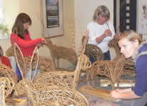 Willow Hare Sculptures with Phil Bradley at Greystoke Cycle Cafe