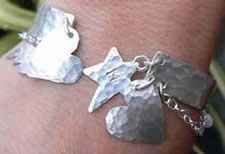 Silver Jewellery Weekend Workshop with Melinda Scarborough at Greystoke Cycle Cafe   Student piece - beginners