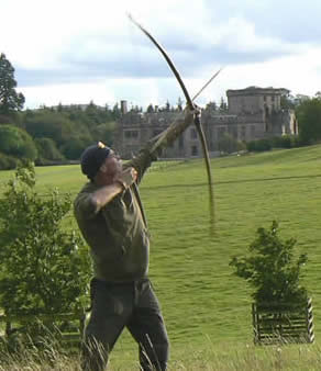 Tutor and bowyer Tony Saunders - click here for short video of a summer longbow course