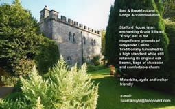 Link to Stafford House- a 4 * castellated folly within the Castle Grounds - a very popular place to stay