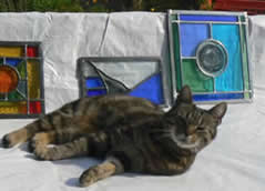 With my own paws- Proud!   Stained Glass Workshop with Jackie Hunt at Greystoke Cycle Cafe
