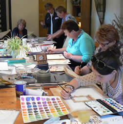 A Watercolours Class at Greystoke Cycle Cafe with Margaret Jarvis